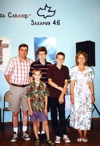 Currans in Tambov, Russia...Ray, Bobby, Dara, Ray Jr., Rebecca...July 2014