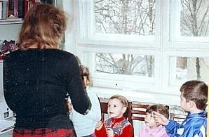 Rebecca teaching Sunday School in Tambov