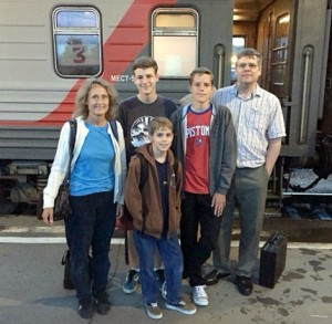 Curran Family...getting on the train to go to Moscow...July 12, 2015